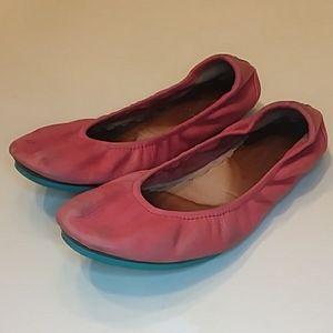 Tieks size 6 poppy ballet flats shoes